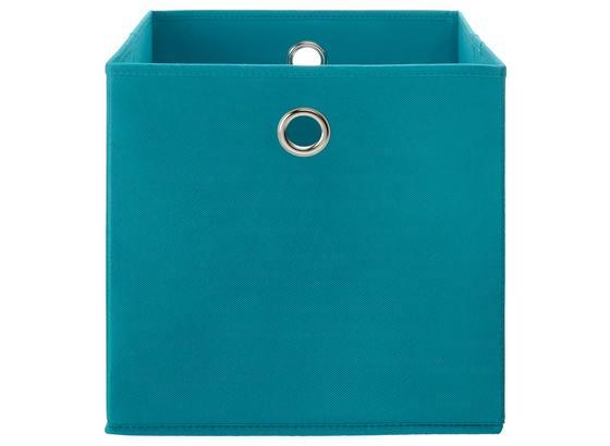 Skladací Box Fibi -ext- -top-based- - tyrkysová, Moderný, kartón/kov (30/30/30cm) - Based