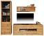 Regál Tizio - šedá/barvy dubu, Moderní, dřevěný materiál (63/206/41cm)