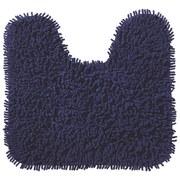WC Vorleger Lilly, mit Schnitt - Blau, KONVENTIONELL, Textil (45/50cm) - OMBRA