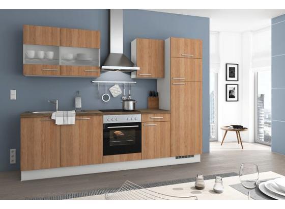 Küchenblock Terentino 280cm Eiche - Eichefarben/Magnolie, LIFESTYLE, Holzwerkstoff (280cm) - Qcina