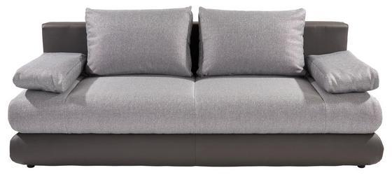 Kanapéágy Clipso - ezüst színű/sötétszürke, modern, textil (212/93/90cm)