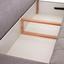 Pohovka Boxspring Marino - svetlosivá, Moderný, textil (208/102/96cm) - Luca Bessoni