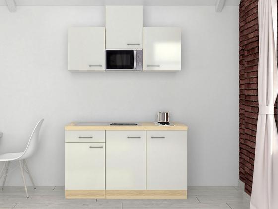 Küchenblock Abaco 150 cm Perlmutt - Edelstahlfarben/Perlmutt, MODERN, Holzwerkstoff (150/60cm)