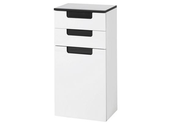 Unterschrank Siena 40cm Weiß/hglz Anthrazit - Anthrazit/Weiß, MODERN, Holzwerkstoff (40/79/27cm)