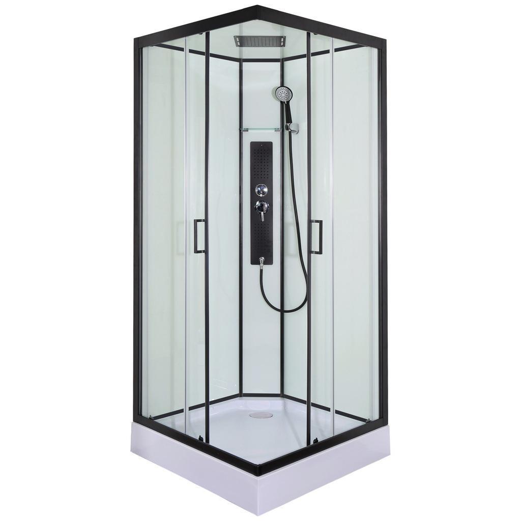 Sprchový Kout S Černým Profilem