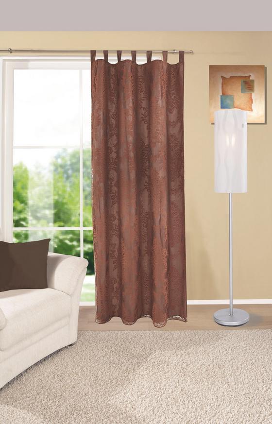 Kombi Készfüggöny Mara - barna, konvencionális, textil (140/255cm) - Ombra
