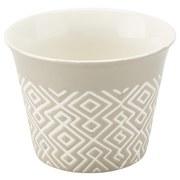 Dessertschale Timothy ca. 200ml - Weiß/Grau, KONVENTIONELL, Keramik (9,2/6,8cm) - Luca Bessoni