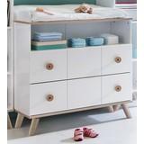 Komoda Billund - bílá/barvy dubu, Moderní, dřevo/dřevěný materiál (91/93/75cm) - MODERN LIVING