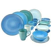 Kombiservice Aqua Nature 16-teilig - Blau, Basics, Keramik (34/31,5/33cm)