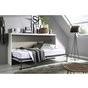 Klappbett Albero 90x200 cm Grau/Weiß - Weiß/Grau, Design, Holzwerkstoff (90/200cm) - MID.YOU