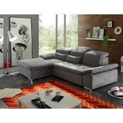 Wohnlandschaft Wayne Lc ca. 188x276 cm - Silberfarben/Grau, KONVENTIONELL, Holzwerkstoff/Textil (188/276cm) - Carryhome