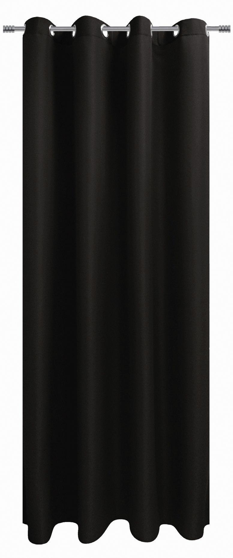 Ösenvorhang schwarz