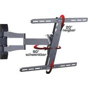TV-Wandhalter Ws 100 B: 62 cm - Schwarz, KONVENTIONELL, Metall (62/42/49cm) - Livetastic