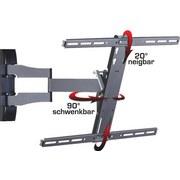 """TV-Wandhalterung Bis 70"""" Dreh- U. Ausziehbar Ws 100 Max 30 Kg - Schwarz, KONVENTIONELL, Metall (62/42/49cm) - Livetastic"""