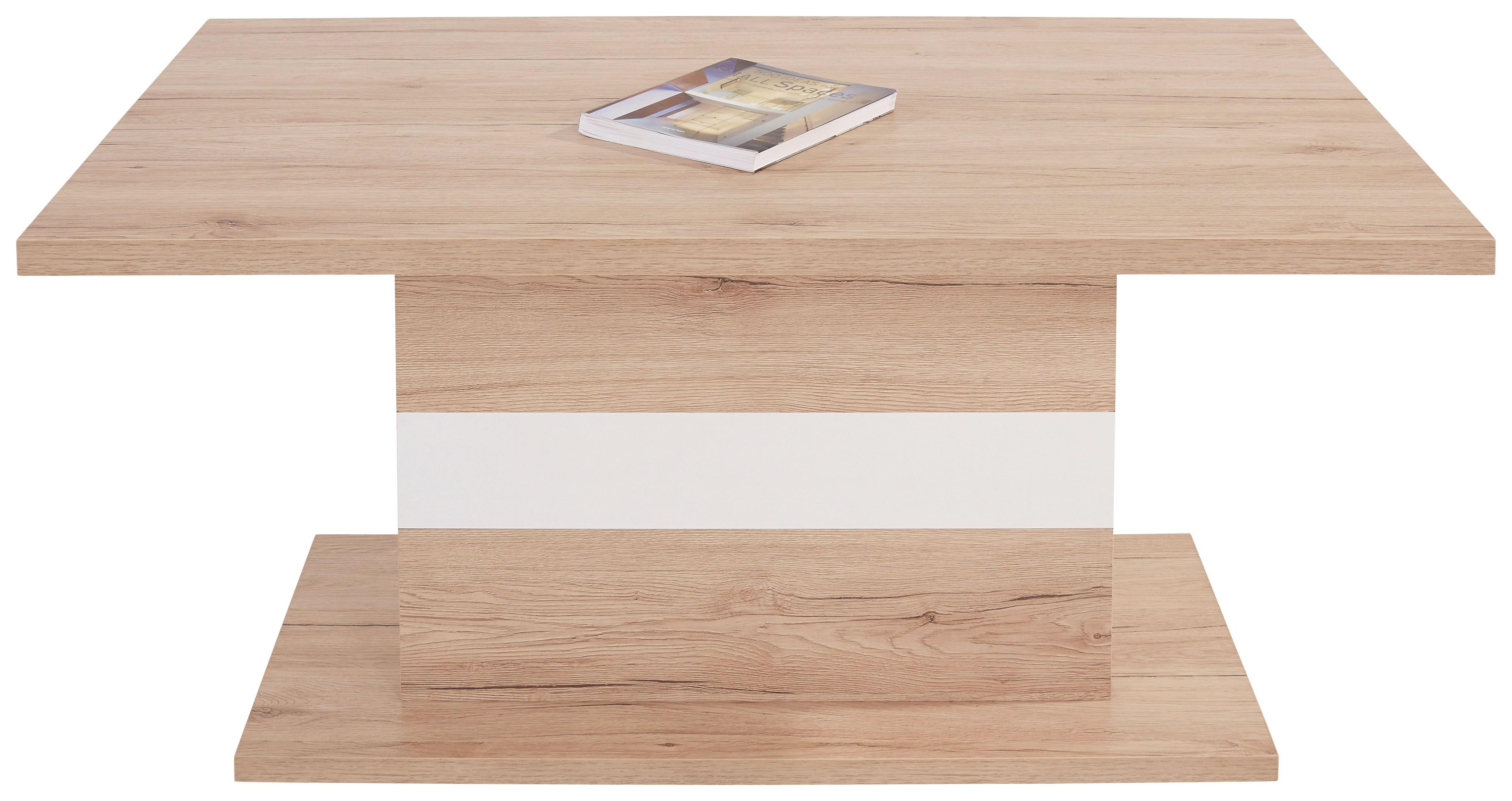 Konferenčný Stolík Mali - farby dubu/biela, Moderný (110/49/67cm)