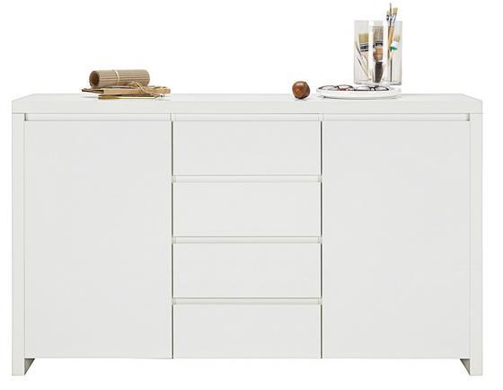 Komoda Sideboard Lario - bílá, Moderní, dřevěný materiál (164/96,4/40cm)