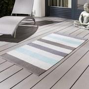 Exteriérový Koberec Stripe - modrá, Moderný, textil (70/140cm)