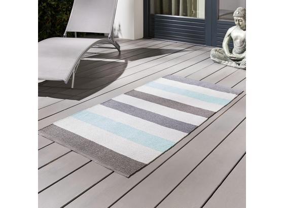 Venkovní Koberec Stripe - modrá, Moderní, textil (70/140cm) - Mömax modern living