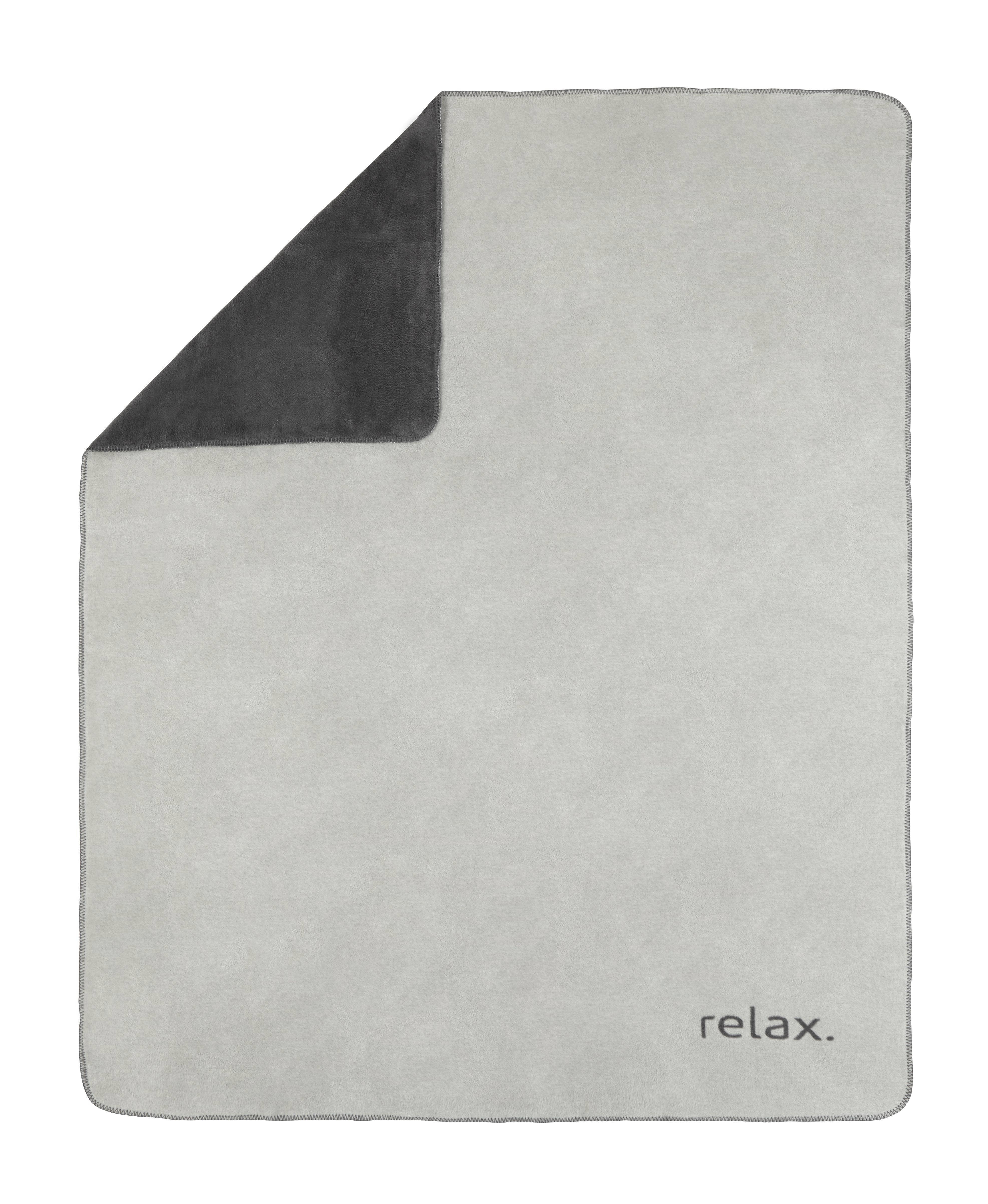 Deka Relax - šedá/barvy stříbra, Konvenční, textil (150/200cm) - PREMIUM LIVING