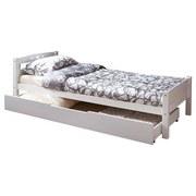 Ausziehbett Lupo 90x200 cm Weiß - Weiß, Basics, Holz/Kunststoff (90/200cm) - MID.YOU