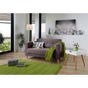 Zweisitzer-Sofa Geneve - Anthrazit/Naturfarben, MODERN, Textil (148/81/75cm)