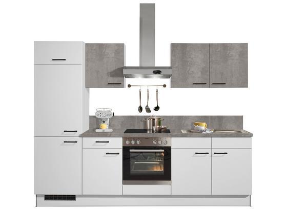 Küchenblock Pn 80/Pn 100 - Weiß, MODERN, Holzwerkstoff/Kunststoff (270cm) - Pino