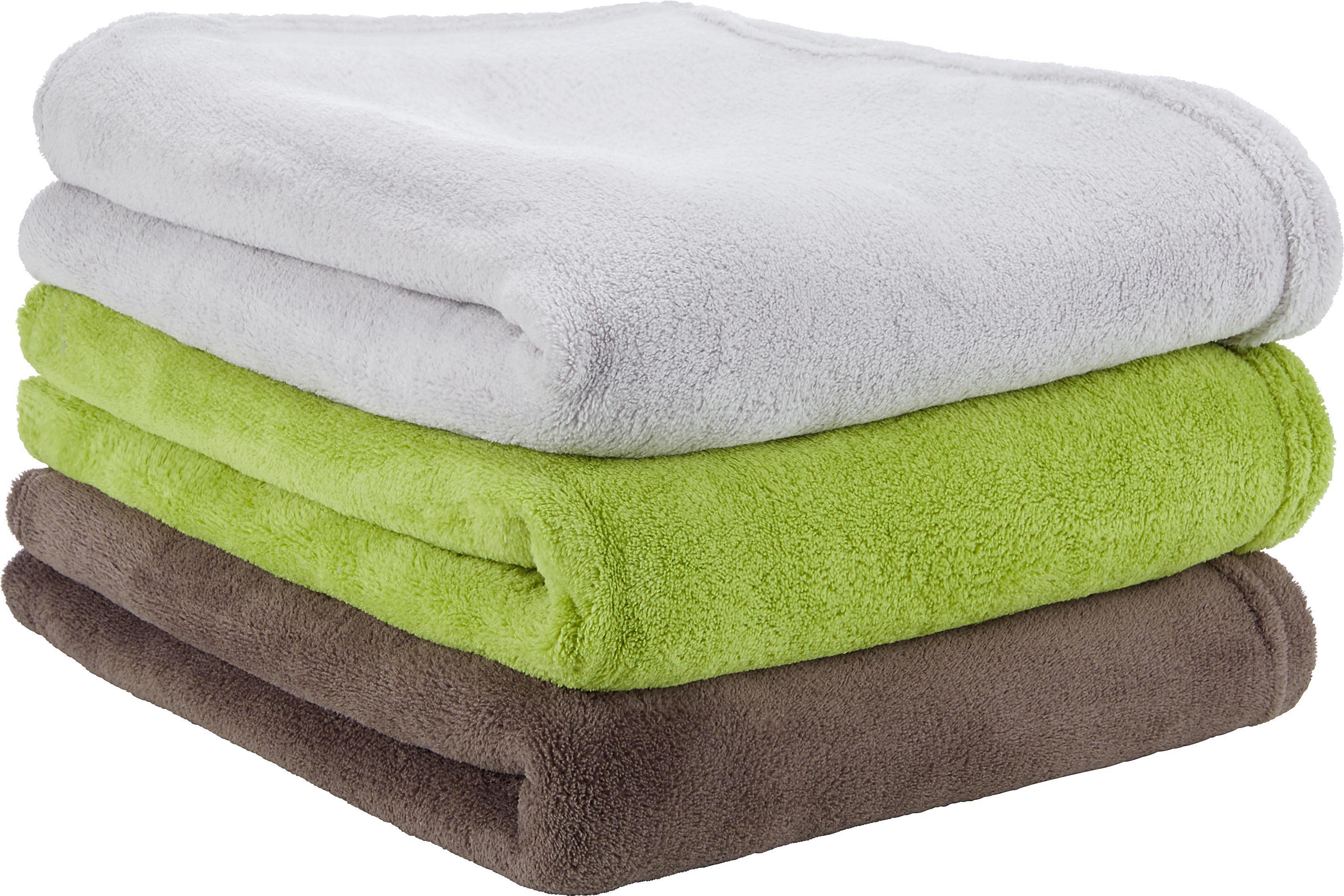 Deka Aktion - barvy stříbra/hnědá, textil (130/160cm) - BASED