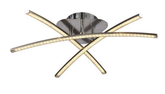 LED-Deckenleuchte Iva - Chromfarben/Nickelfarben, MODERN, Kunststoff/Metall (38/38cm) - Luca Bessoni