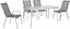 Gartensessel Stapelbar Hanna Aluminium, Stahl, Textil - Anthrazit/Silberfarben, KONVENTIONELL, Textil/Metall (54/96/76cm) - Ombra