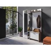 Garderobenbank Benno B: 60 cm Grau, Weiß - Weiß/Grau, KONVENTIONELL, Holzwerkstoff (60/48/35cm) - MID.YOU