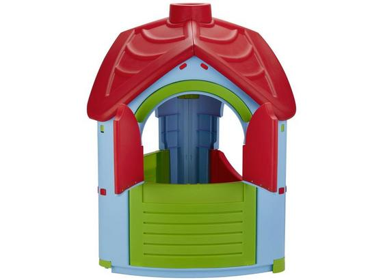 Spielhaus Kunststoff mit Kamin Multicolor Villa - Blau/Rot, MODERN, Kunststoff (95/102/126cm)