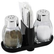 Salz- und Pfefferstreuer Salz/pfeffer - Silbereichenfarben, KONVENTIONELL, Glas/Kunststoff (8cm) - Fackelmann