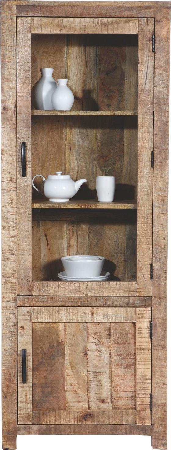 Vitrína Industry - prírodné farby, Štýlový, drevo (67/180/42cm) - James Wood