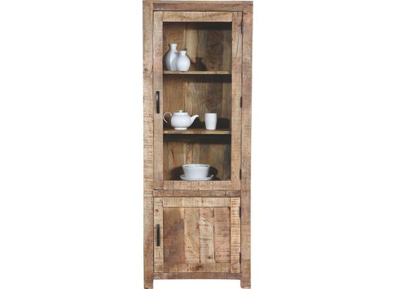 Vitrína Industry - přírodní barvy, dřevo (67/180/42cm) - James Wood