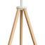 Stojacia Lampa John - biela, Moderný, kov/drevo (62/152cm) - Modern Living