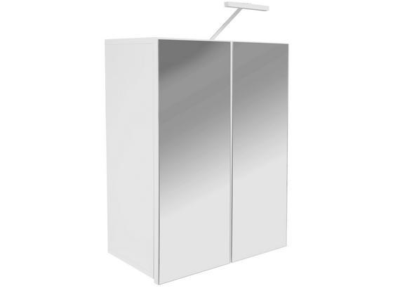 Spiegelschrank Pearl - Weiß, KONVENTIONELL, Glas/Holzwerkstoff (70/80,5/23cm)