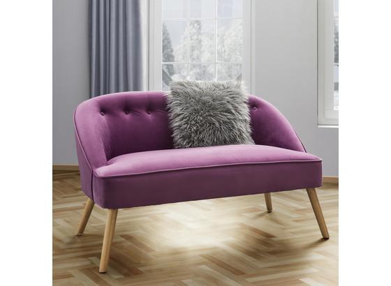 Lavica Sophia - bobuľová, Moderný, drevo/textil (126,5/77/75cm) - Mömax modern living