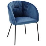 Stolička Vani - modrá/čierna, Moderný, kov/textil (63/81/51cm) - Modern Living