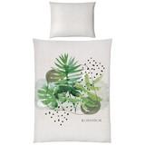 Posteľná Bielizeň Botanical -ext- - sivá/zelená, Konvenčný, textil (140/200cm) - Mömax modern living