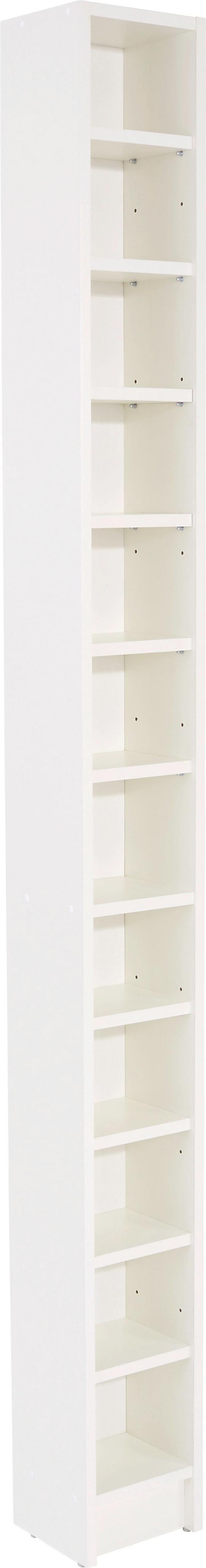 Cd-regal Felix - Weiß, MODERN, Holzwerkstoff (20/201,8/16,5cm) - Sonne