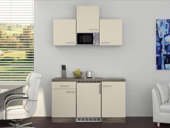Küchenblock Eico 150cm Magnolie - Eichefarben/Magnolie, MODERN, Holzwerkstoff (150/60cm)