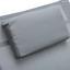 Sonnenliege Mirano Stahl, Textilene mit Kopfkissen - Anthrazit, MODERN, Textil/Metall (63/85/148cm) - Ombra