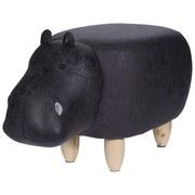 Tier Hocker Hippo - Naturfarben/Kieferfarben, Design, Holz/Textil (65/30/35cm)