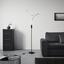 Led Stojací Lampa Thore - černá/barvy chromu, Romantický / Rustikální, kov (22/175,6cm) - Modern Living