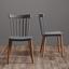 Židle Leila - šedá, Moderní, dřevo/umělá hmota (48/45/113cm)