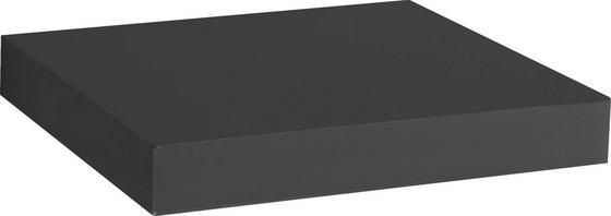 Nástenná Polica Simple - čierna, Moderný, kompozitné drevo (23,5/3,8/23,5cm)