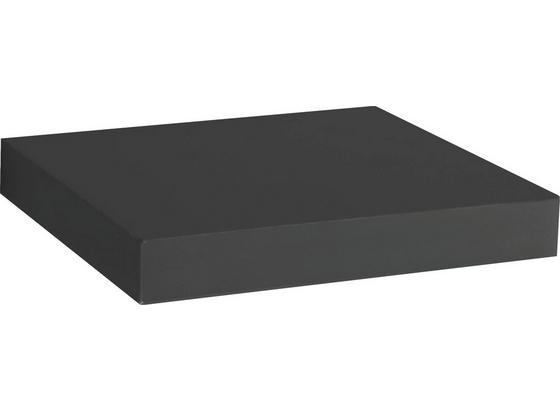 Wandboard Simple B:24cm, Schwarz - Schwarz, MODERN, Holzwerkstoff (23,5/3,8/23,5cm)