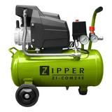 Druckluftkompressor Kompressor ZI-COM24E - Schwarz/Grün, MODERN, Kunststoff/Metall - Zipper