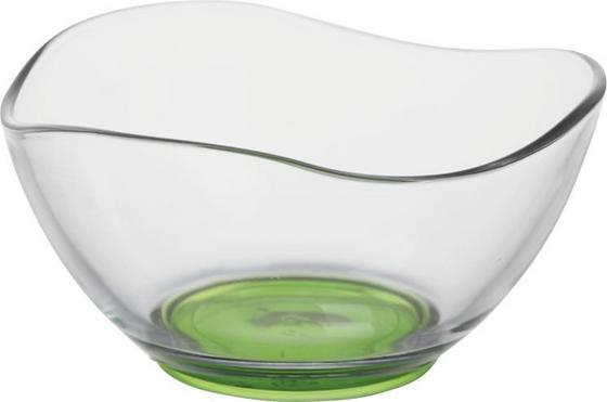 Schüssel Fiore - Blau/Klar, KONVENTIONELL, Glas (21/10,5cm) - Ombra
