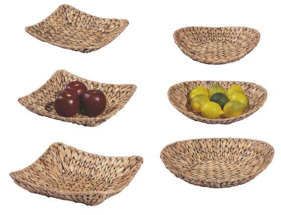 Dekor Tál Emy - natúr színek/fekete, konvencionális, további természetes anyagok/fém (33/33/9,5cm) - OMBRA